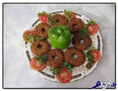 تزیین کردن شامی با سبزیجات