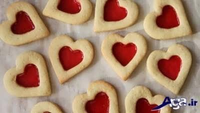 شیرینی مربایی به شکل قلب