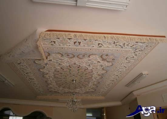 گچبری با طرح های زیبا برای سقف