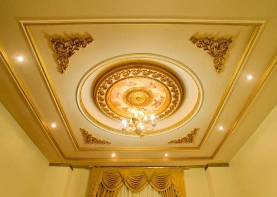 گچبری سقف پذیرایی با طرح های شیک
