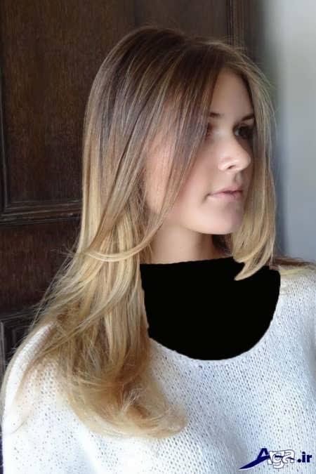 مدل مو با رنگ مو شنی