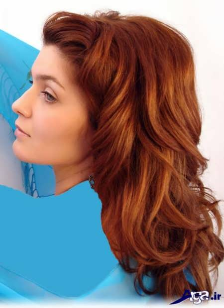 رنگ موی قرمز شنی