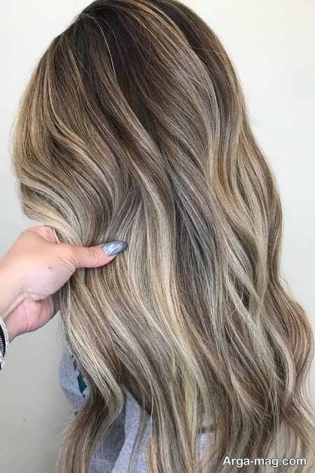 رنگ مو شنی جدید