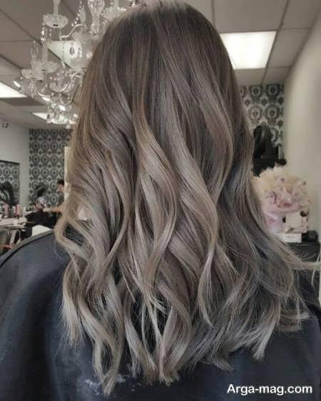 رنگ مو شنی جذاب