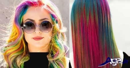 رنگ موی شنی رنگین کمانی