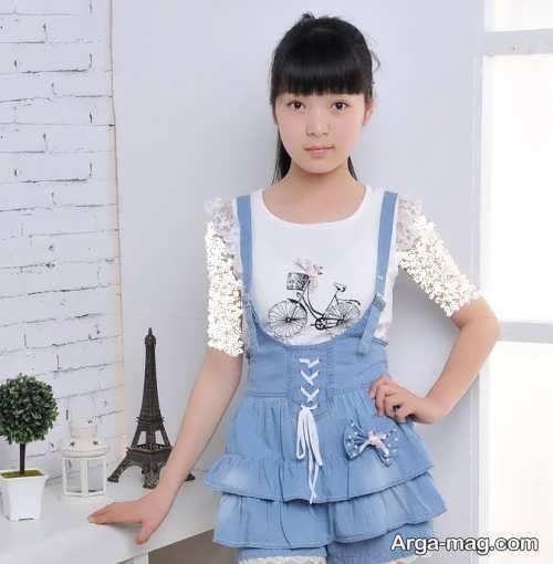 سارافون جین دخترانه با طرحی قشنگ