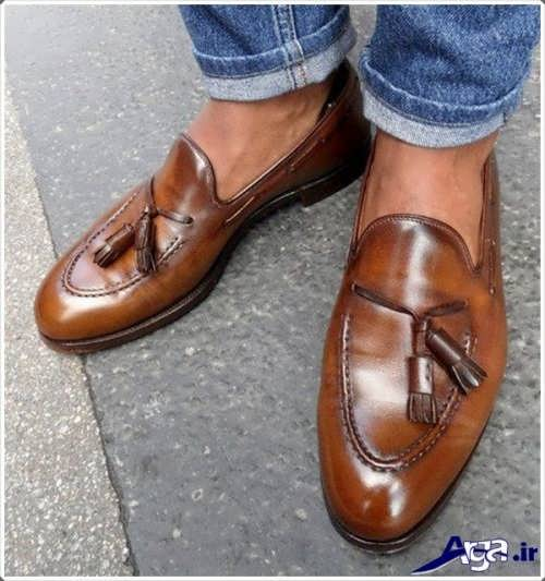 کفش قهوه ای پسرانه مجلسی