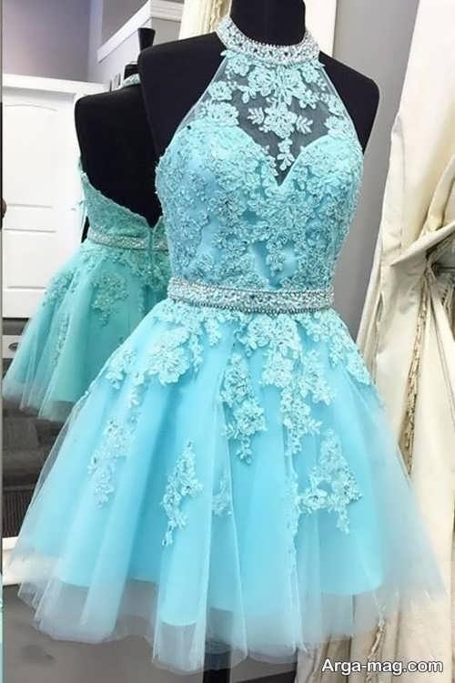 مدل گیپور لباس شب کوتاه