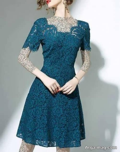 مدل زیبای لباس شب کوتاه