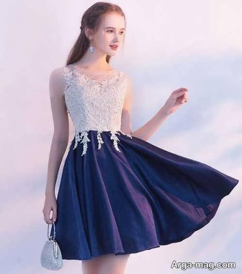 مدل جذاب لباس شب کوتاه