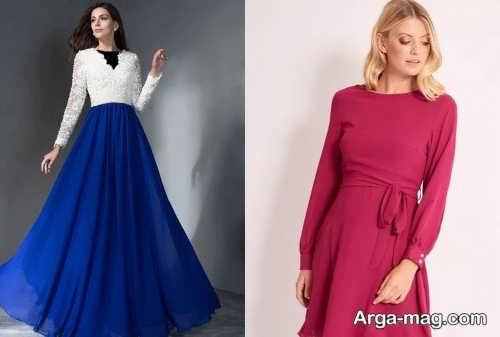 مدل لباس حریر شیک و زیبا