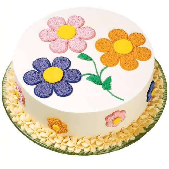 تزیین کردن کیک با طرح گل