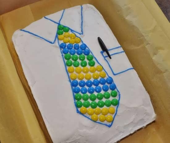 تزیین کیک زیبا و ساده برای روز پدر