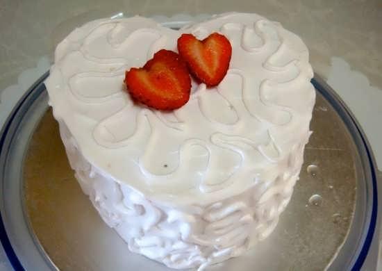 تزیین ساده کیک با برش توت فرنگی