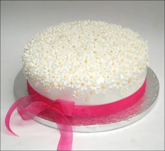 تزیین کیک ساده و زیبا