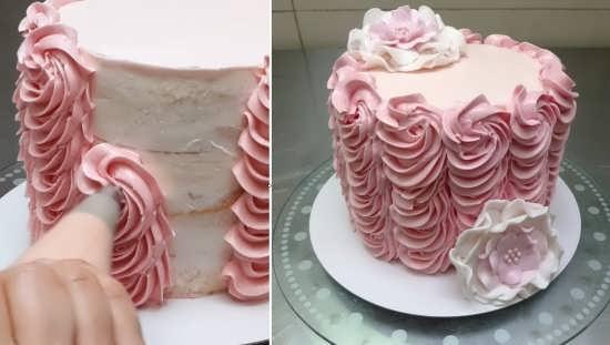 تزیین کیک به شکل گل رز