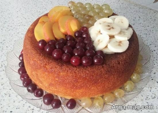 تزیینات کیک ساده اسفنجی
