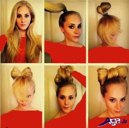آموزش مدل موی پاپیونی در منزل