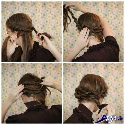 آموزش مدل موی بسته