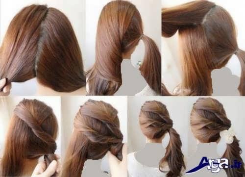 آموزش آرایش موی ساده در منزل