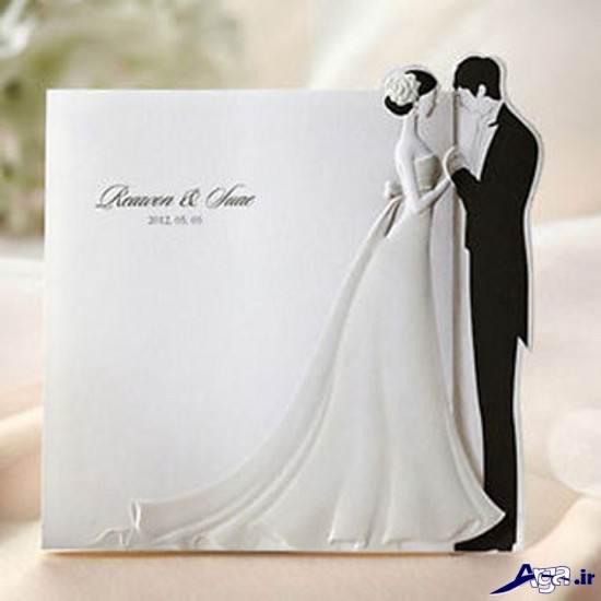 مدل کارت عروسی با طرح عروس و داماد