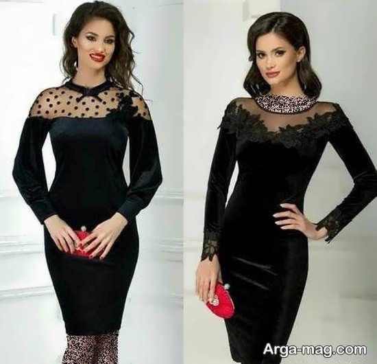 مدلهای یقه شیک لباس مجلسی