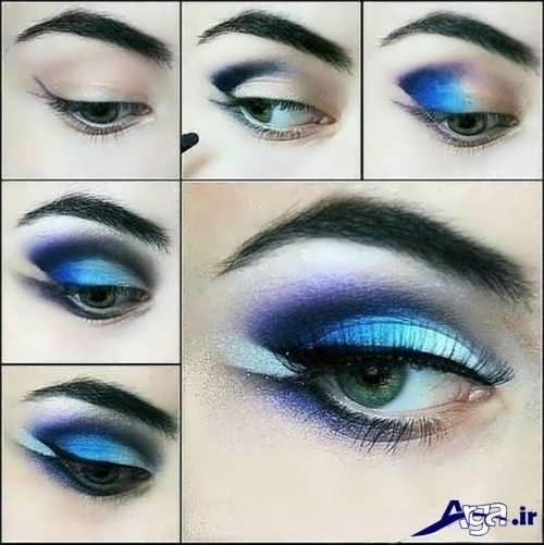 مدل سایه چشم با ترکیب دو رنگ