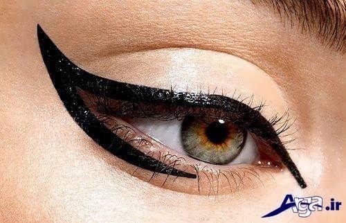 خط چشم زنانه دنباله دار