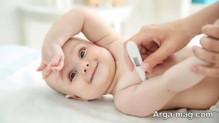 پایین آوردن تب کودکان با چند روش