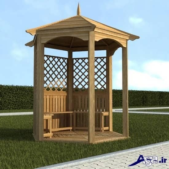 مدل آلاچیق با طراحی چوبی