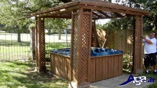 آلاچیق های چوبی با طراحی های مدرن