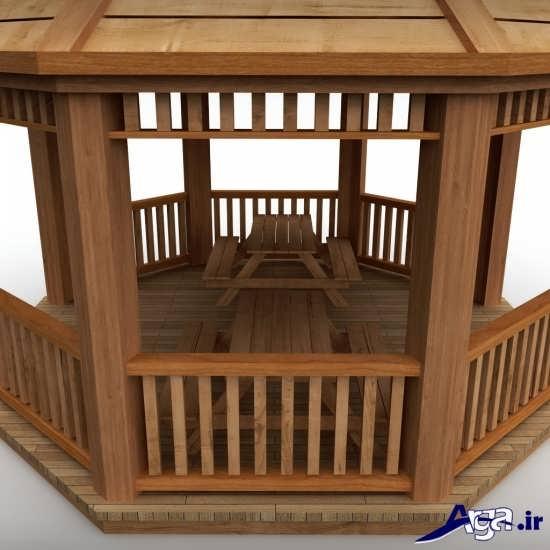 مدل آلاچیق شیک و مدرن چوبی