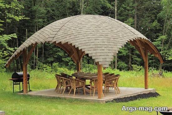 آلاچیق چوبی زیبا و جدید