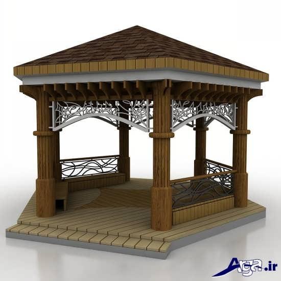مدل های شیک و زیبا آلاچیق های چوبی