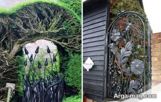 مدل درب حیاط خلاقانه