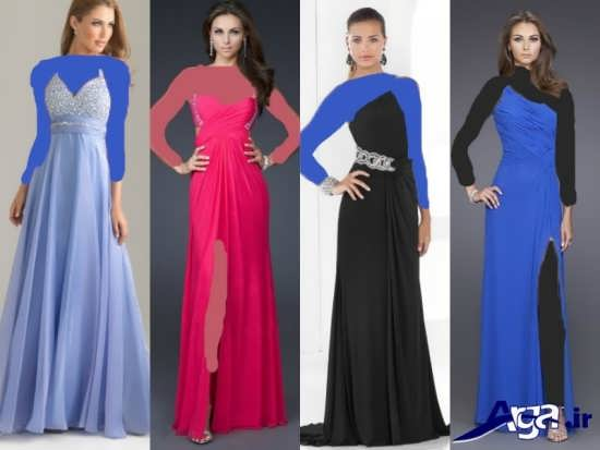 انواع مدل های زیبا و جدید لباس مجلسی بلند