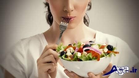 رژیم سبزیجات برای لاغری شکم