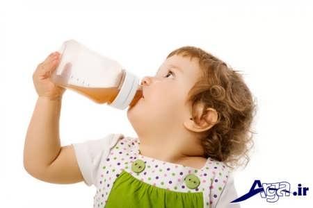 درمان تب در کودکان با مایعات