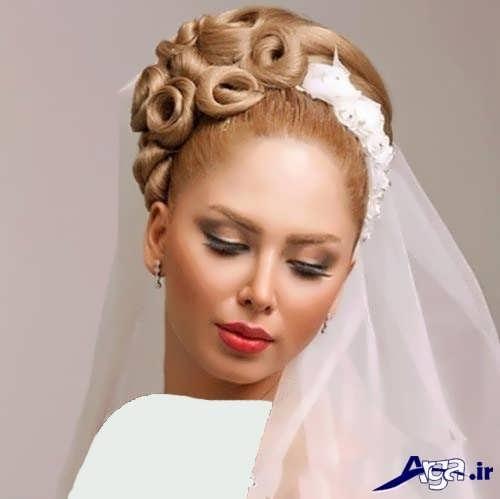 شینیون زیبای عروس
