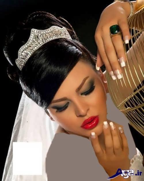مدل شینیون عروس ایرانی