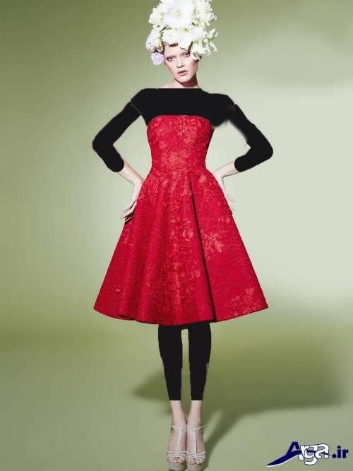 مدل پیراهن قرمز گیپور
