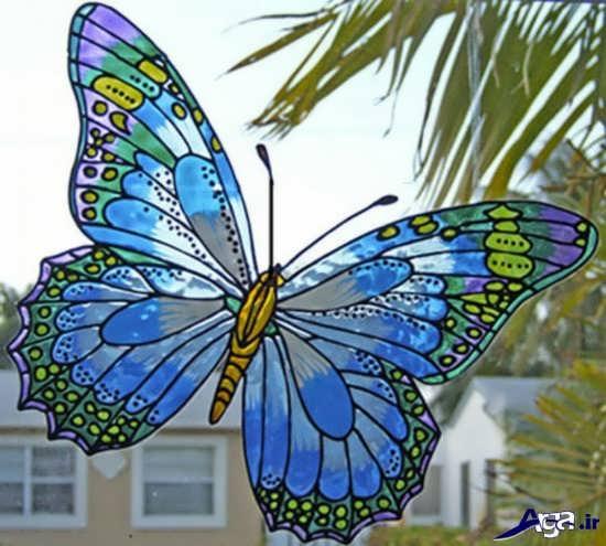 نقاشی ویترای روی شیشه