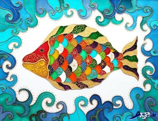 نقاشی ماهی روی شیشه