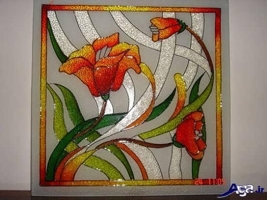 نقاشی ویترا بر روی شیشه
