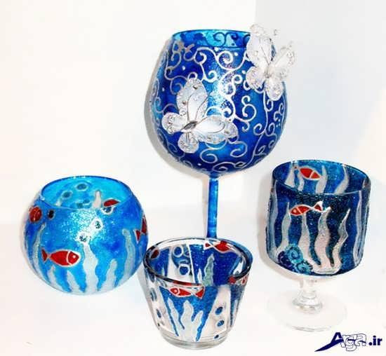 نقاشی ویترای روی ظروف