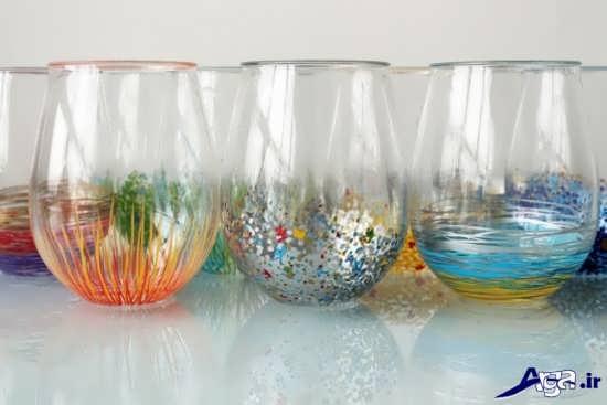 نقاشی روی شیشه با انواع ایده های جدید و جالب آموزش