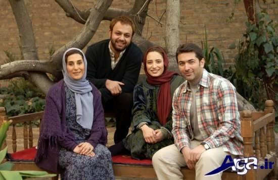 عکس پارسا پیروزفر در کنار دیگر بازیگران