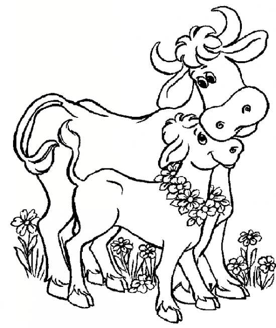 نقاشی کودکانه گاو