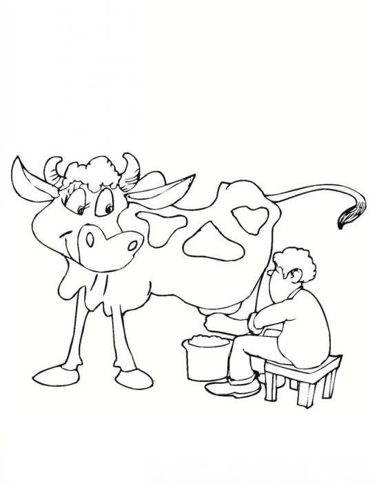 نقاشی گاو دوست داشتنی