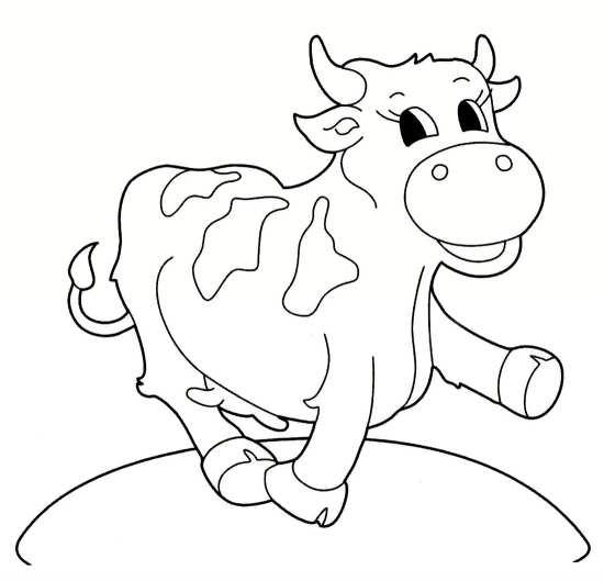 نقاشی جالب گاو
